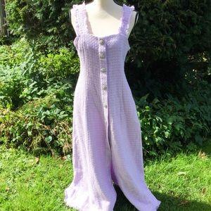 NWT Zara Lilac Purple Tweed frayed long dress